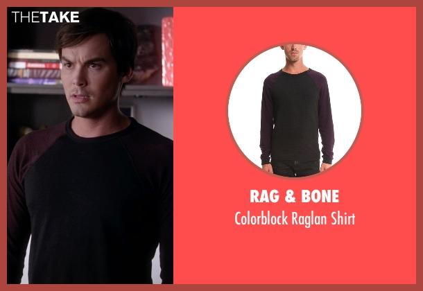 Rag & Bone  black shirt from Pretty Little Liars seen with Caleb Rivers (Tyler Blackburn)