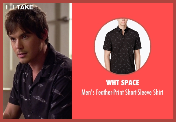 WHT Space black shirt from Pretty Little Liars seen with Caleb Rivers (Tyler Blackburn)