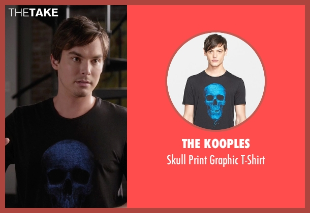 The Kooples black t-shirt from Pretty Little Liars seen with Caleb Rivers (Tyler Blackburn)