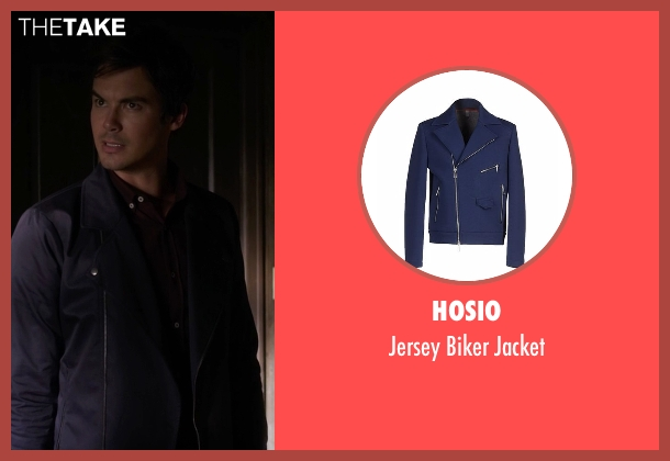 Hosio blue jacket from Pretty Little Liars seen with Caleb Rivers (Tyler Blackburn)