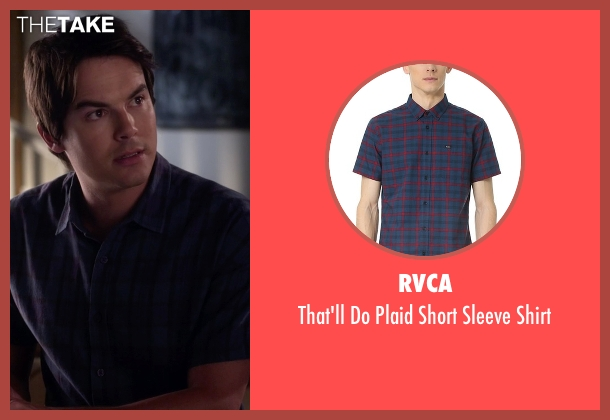 RVCA blue shirt from Pretty Little Liars seen with Caleb Rivers (Tyler Blackburn)