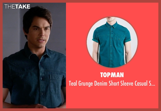 Topman blue shirt from Pretty Little Liars seen with Caleb Rivers (Tyler Blackburn)