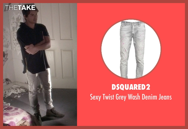 DSquared2 gray jeans from Pretty Little Liars seen with Caleb Rivers (Tyler Blackburn)