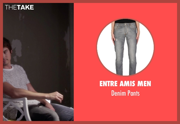 Entre Amis Men gray pants from Pretty Little Liars seen with Caleb Rivers (Tyler Blackburn)