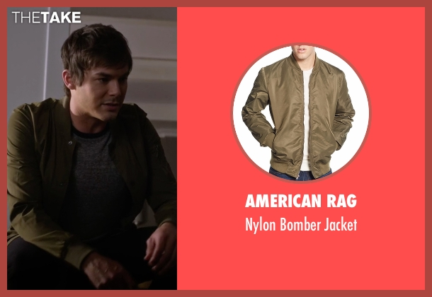 American Rag green jacket from Pretty Little Liars seen with Caleb Rivers (Tyler Blackburn)