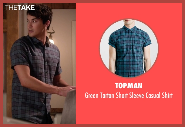 Topman green shirt from Pretty Little Liars seen with Caleb Rivers (Tyler Blackburn)
