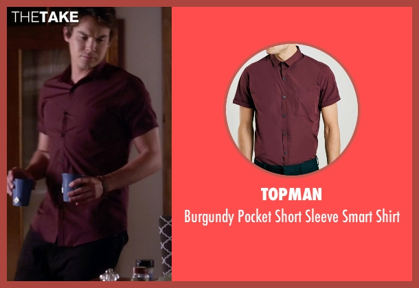 Topman red shirt from Pretty Little Liars seen with Caleb Rivers (Tyler Blackburn)