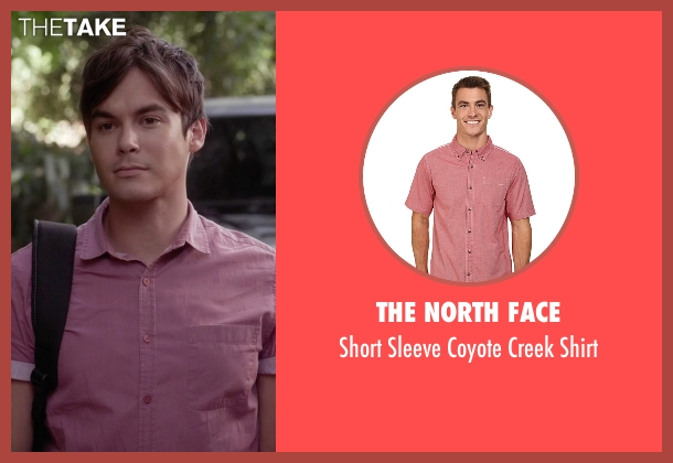 The North Face red shirt from Pretty Little Liars seen with Caleb Rivers (Tyler Blackburn)