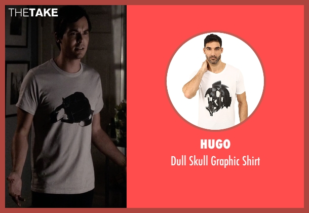 Hugo white shirt from Pretty Little Liars seen with Caleb Rivers (Tyler Blackburn)