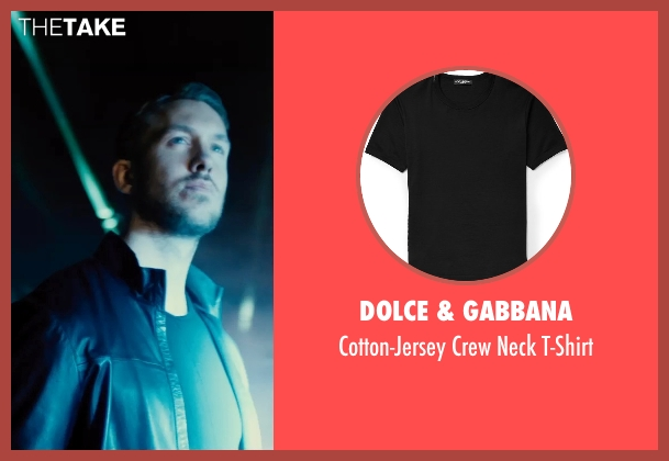 Dolce & Gabbana black t-shirt from Entourage seen with Calvin Harris (Unknown Character)