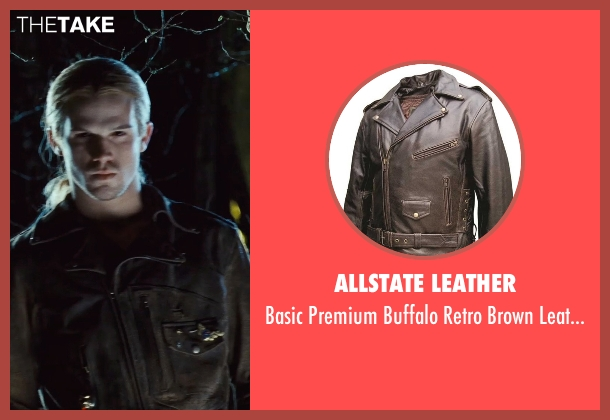 Allstate Leather brown jacket from Twilight seen with Cam Gigandet (James)