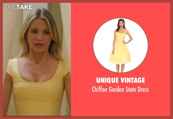 Unique Vintage yellow dress from Knight and Day seen with Cameron Diaz (June Havens)