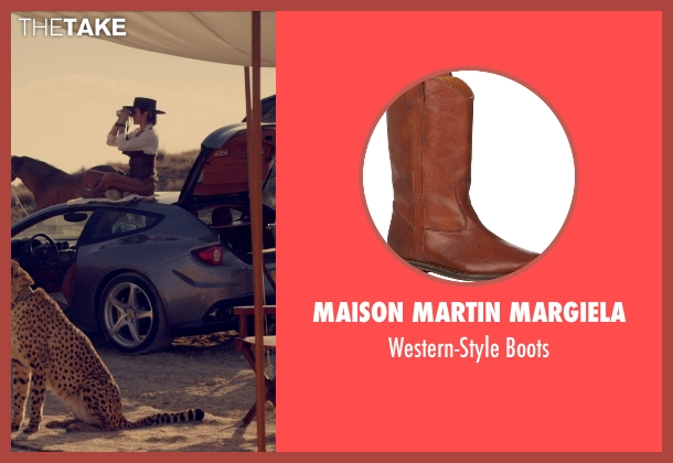 Maison Martin Margiela brown boots from The Counselor seen with Cameron Diaz (Malkina)