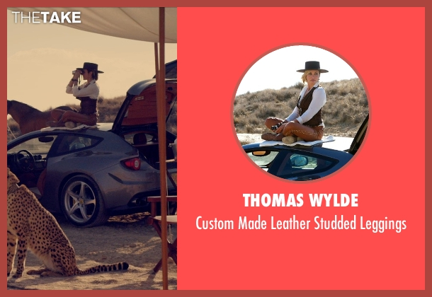 Thomas Wylde brown leggings from The Counselor seen with Cameron Diaz (Malkina)