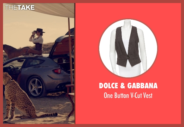 Dolce & Gabbana brown vest from The Counselor seen with Cameron Diaz (Malkina)