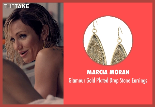 Marcia Moran gold earrings from The Counselor seen with Cameron Diaz (Malkina)
