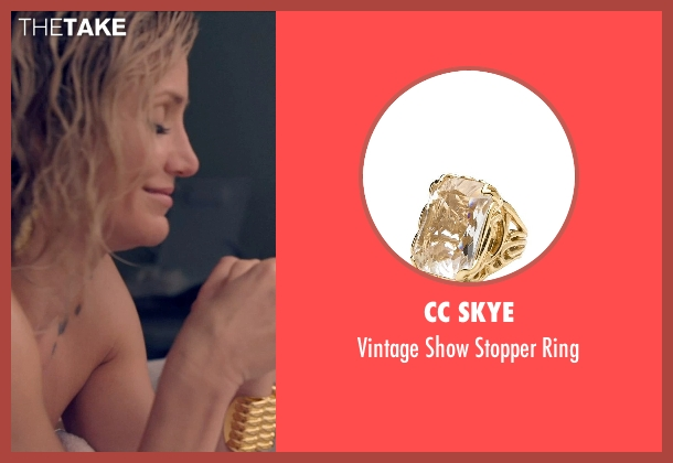 CC Skye gold ring from The Counselor seen with Cameron Diaz (Malkina)