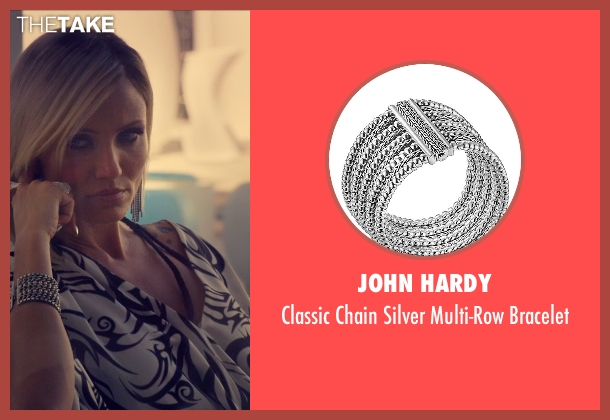 John Hardy silver bracelet from The Counselor seen with Cameron Diaz (Malkina)