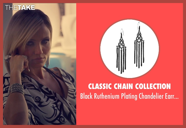 Classic Chain Collection silver earrings from The Counselor seen with Cameron Diaz (Malkina)