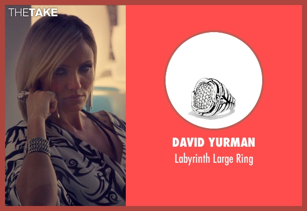 David Yurman silver ring from The Counselor seen with Cameron Diaz (Malkina)