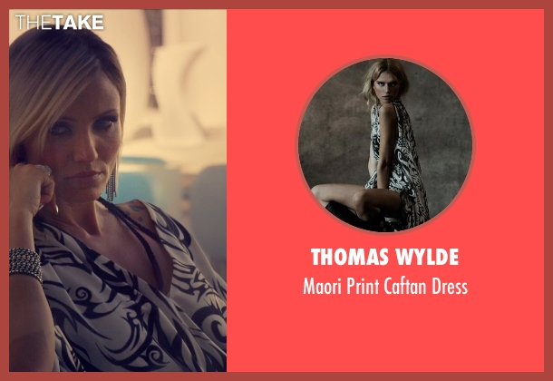 Thomas Wylde white dress from The Counselor seen with Cameron Diaz (Malkina)