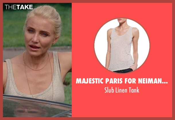 Majestic Paris for Neiman Marcus beige tank from The Other Woman seen with Cameron Diaz (Carly Whitten)