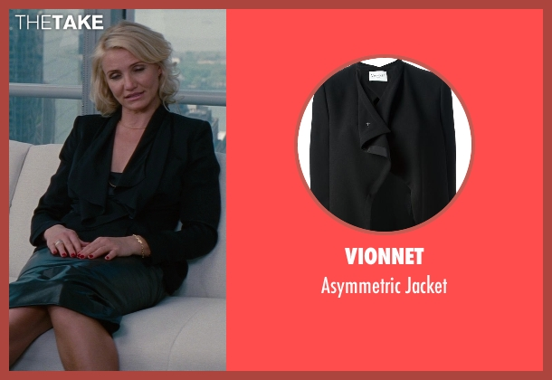 Vionnet black jacket from The Other Woman seen with Cameron Diaz (Carly Whitten)