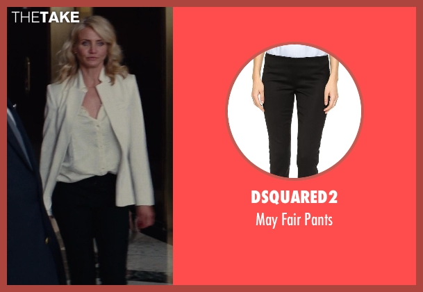 Dsquared2 black pants from The Other Woman seen with Cameron Diaz (Carly Whitten)