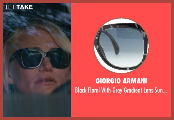 Giorgio Armani black sunglasses from The Other Woman seen with Cameron Diaz (Carly Whitten)