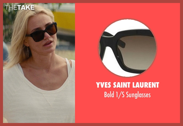 Yves Saint Laurent black sunglasses from The Other Woman seen with Cameron Diaz (Carly Whitten)