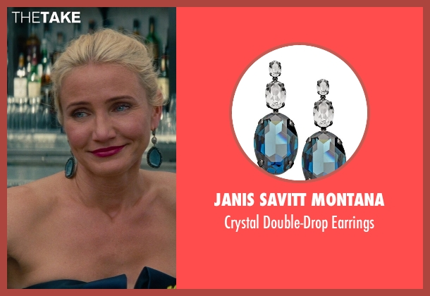 Janis Savitt Montana blue earrings from The Other Woman seen with Cameron Diaz (Carly Whitten)