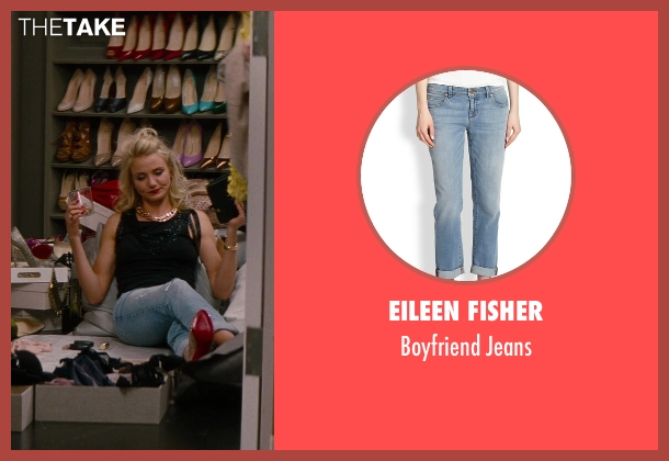 Eileen Fisher blue jeans from The Other Woman seen with Cameron Diaz (Carly Whitten)