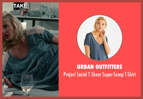 Urban Outfitters blue t-shirt from The Other Woman seen with Cameron Diaz (Carly Whitten)