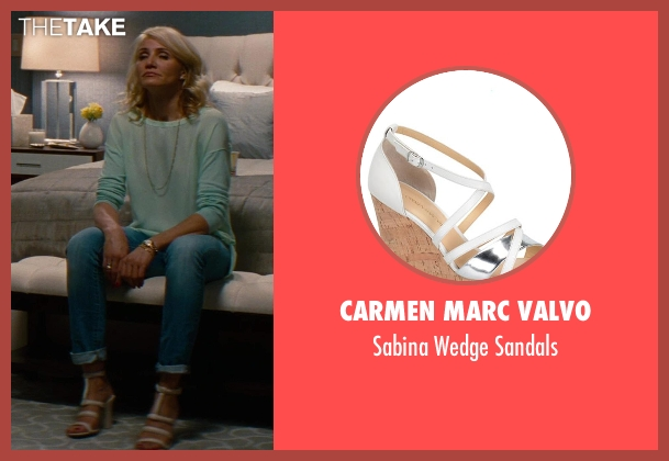 Carmen Marc Valvo brown sandals from The Other Woman seen with Cameron Diaz (Carly Whitten)