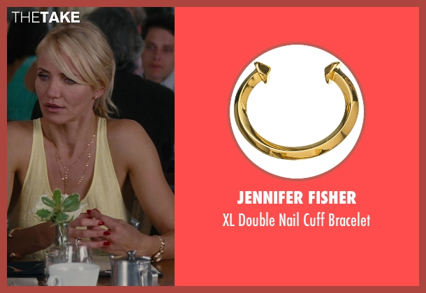 Jennifer Fisher gold bracelet from The Other Woman seen with Cameron Diaz (Carly Whitten)