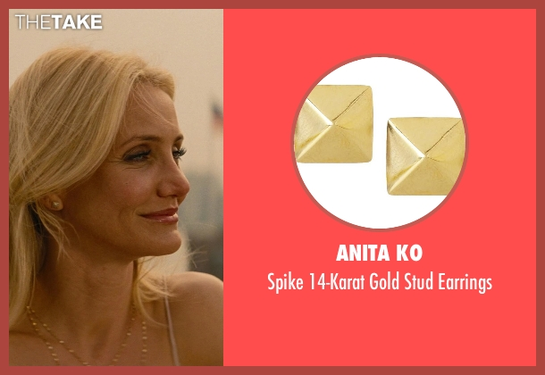 Anita Ko gold earrings from The Other Woman seen with Cameron Diaz (Carly Whitten)