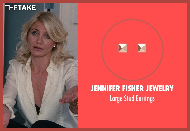 Jennifer Fisher Jewelry gold earrings from The Other Woman seen with Cameron Diaz (Carly Whitten)