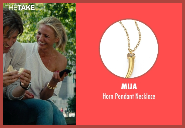 Mija gold necklace from The Other Woman seen with Cameron Diaz (Carly Whitten)