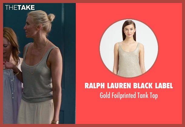 Ralph Lauren Black Label gold top from The Other Woman seen with Cameron Diaz (Carly Whitten)