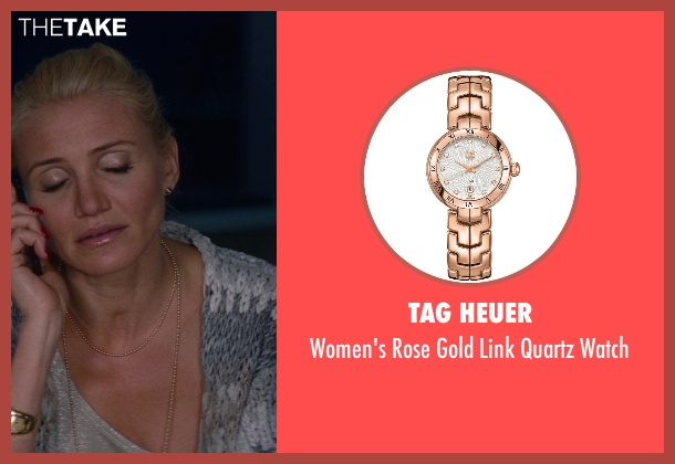 Tag Heuer gold watch from The Other Woman seen with Cameron Diaz (Carly Whitten)