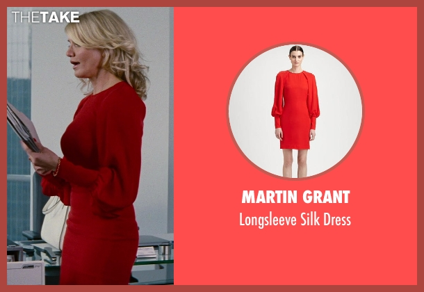 Martin Grant red dress from The Other Woman seen with Cameron Diaz (Carly Whitten)