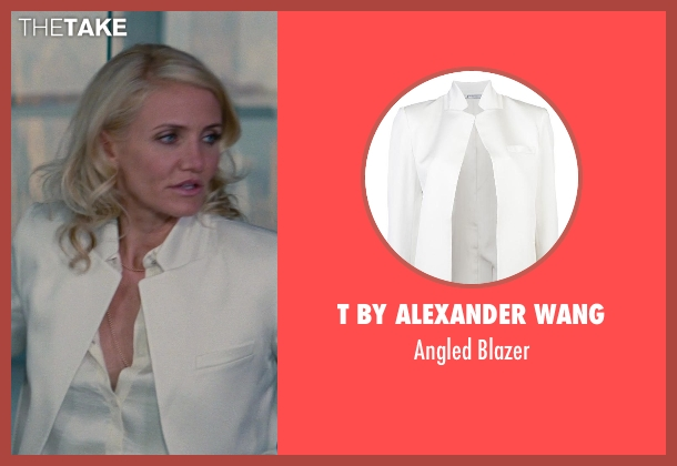 T By Alexander Wang white blazer from The Other Woman seen with Cameron Diaz (Carly Whitten)