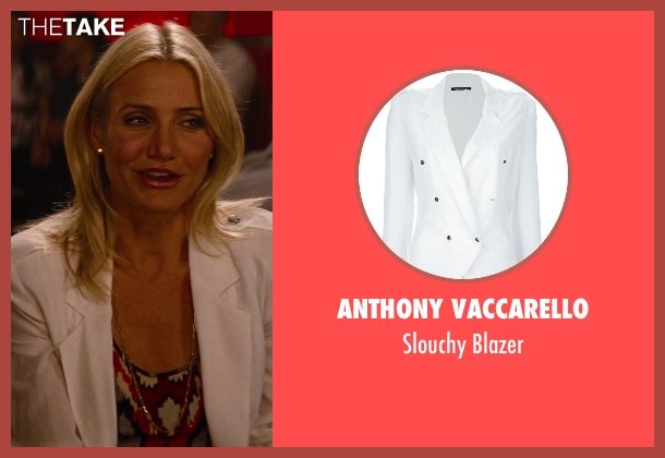 Anthony Vaccarello white blazer from The Other Woman seen with Cameron Diaz (Carly Whitten)