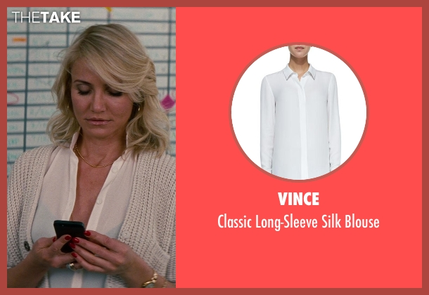 Vince white blouse from The Other Woman seen with Cameron Diaz