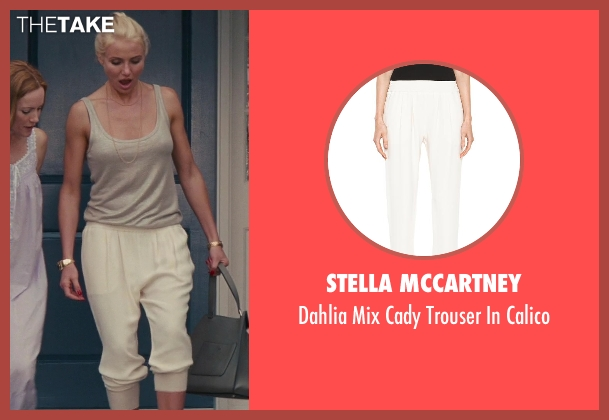 Stella Mccartney white calico from The Other Woman seen with Cameron Diaz (Carly Whitten)