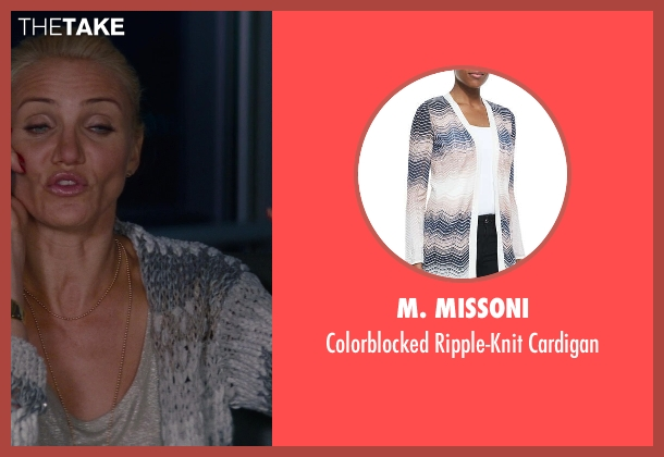 M. Missoni white cardigan from The Other Woman seen with Cameron Diaz (Carly Whitten)
