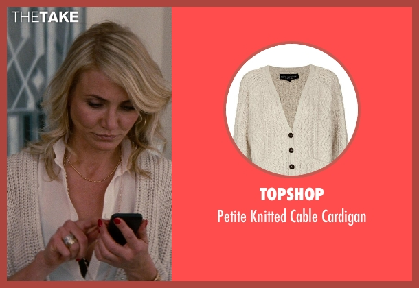 Topshop white cardigan from The Other Woman seen with Cameron Diaz (Carly Whitten)