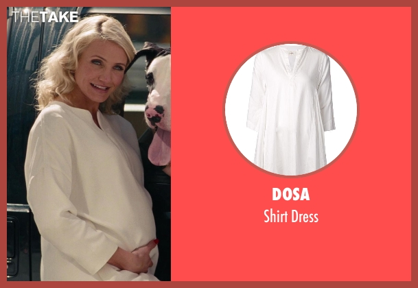 Dosa white dress from The Other Woman seen with Cameron Diaz (Carly Whitten)