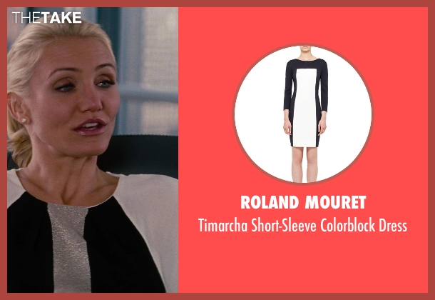 Roland Mouret	 white dress from The Other Woman seen with Cameron Diaz (Carly Whitten)