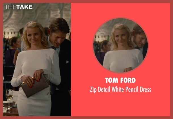 Tom Ford white dress from The Other Woman seen with Cameron Diaz (Carly Whitten)